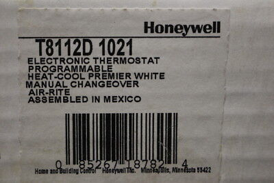HONEYWELL Electronic Thermostat Model #T8112D 1021