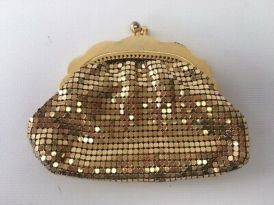 Vintage Genuine Glomesh Gold Coin Purse Excellent Condition
