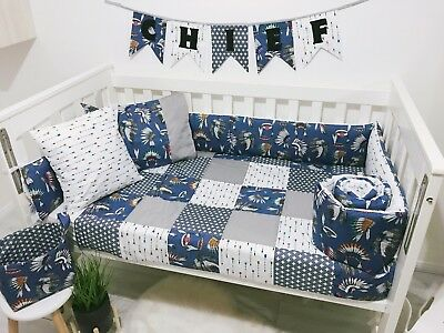 Little Chief Bumper And Patchwork Quilt Set