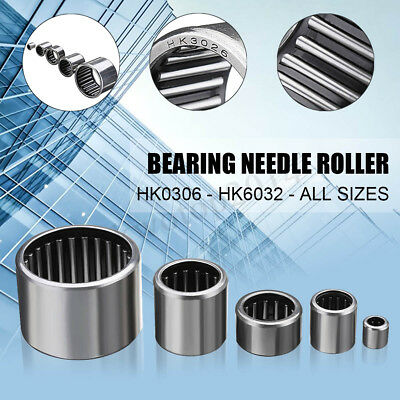 New Chrome Bearing Bearings Thrust Drawn Cup Needle Roller Ring HK3026 - HK0408