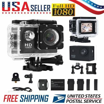 1080P HD Cam Camcorder Ultra Sport Action Waterproof DVR Camera DV 12MP