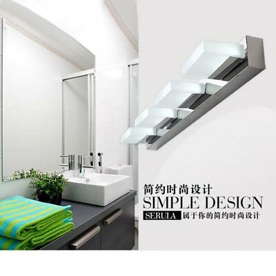 Modern Bathroom Vanity LED Light Crystal Front Mirror Toilet Wall Lamp Fixture V