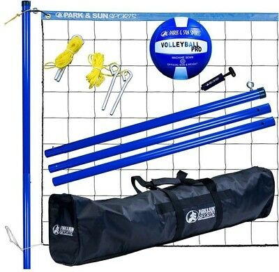 Park And Sun Volley Sport Steel Outdoor Volleyball Net Set