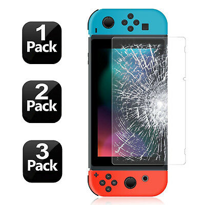 [1-3Pack] 100% Genuine Tempered Glass Screen Protector Film For Nintendo Switch