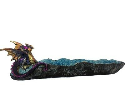 1 x Dragon Incense Burner Incense Holder Purple + Blue