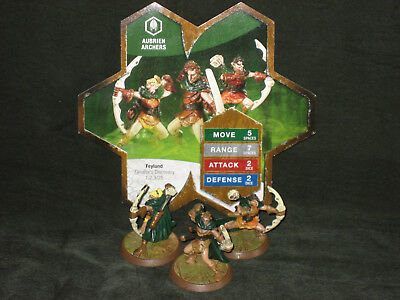 Heroscape Wave 4 Zanafor's Discovery Aubrien Archers complete with card