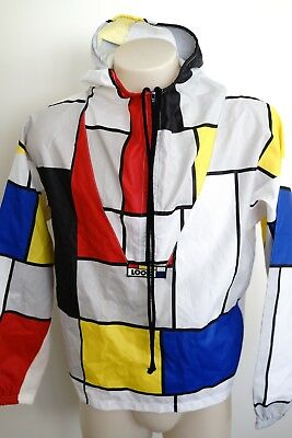 vintage look 'coloured block' pullover/hooded jacket…small…vgc…rare...