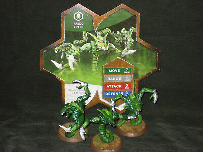 Heroscape Wave 4 Zanafor's Discovery Armoc Vipers complete with card