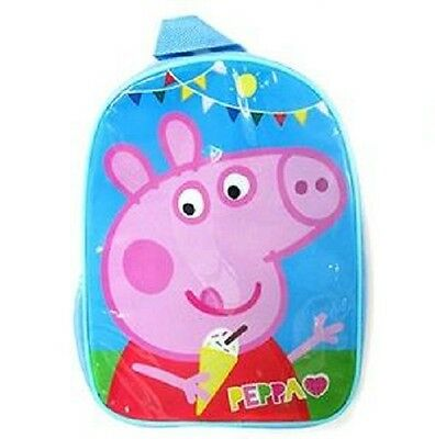 Peppa Pig Small Backpack Icecream Ice School Bag with Side Pocket Drink Holder
