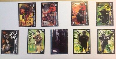 Rogue One Topps Star Wars Assorted Lot Of 9 Cards