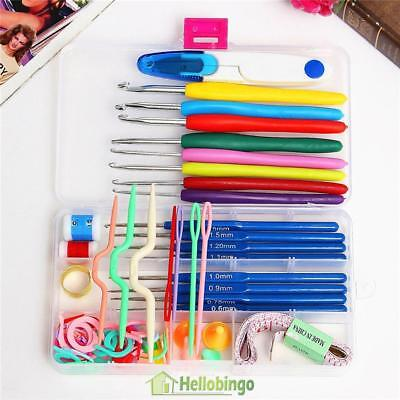 16 sizes Crochet hooks Needles Stitches knitting Craft Case crochet set Tool Kit
