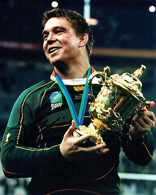 John SMIT Signed Autograph Photo AFTAL COA  South African RUGBY World Cup Winner