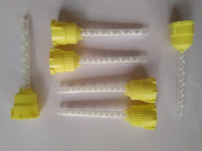 100 pieces of  HP YELLOW Mixing Tips - Genuine Mixpac for All VPS / PVS US