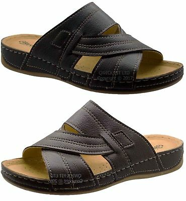 Mens Comfort Quality Walking Holiday Beach Sandals Mules Slippers Shoe Size 6-12