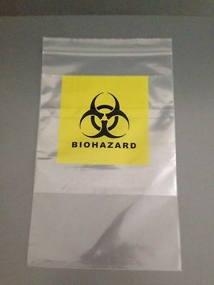 Biohazard / Specimen Disposal Bags 150mm x 250mm Brand New