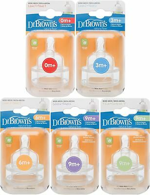 Dr Brown/'s Options Teats DRB-AC363-GBX Wide-Neck Silicone Nipples Level 4