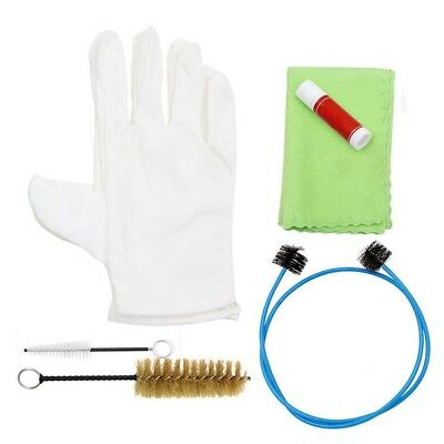 Trombone Tuba Horn Cleaning Brushes Cloth Glove Brasswind Instrument Clean Kit