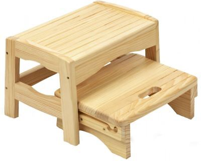 Safety 1st WOODEN TWO STEP STOOL Baby/Child Bathroom/Potty Training BNIP