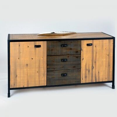 kommode anrichte k rbe schrank metall sideboard spind. Black Bedroom Furniture Sets. Home Design Ideas