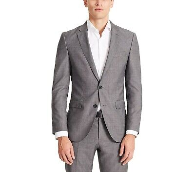 NWT HART SCHAFFNER MARX SUIT US MADE $895 ALL YR ROUND WOOL MODERN FIT BLACK