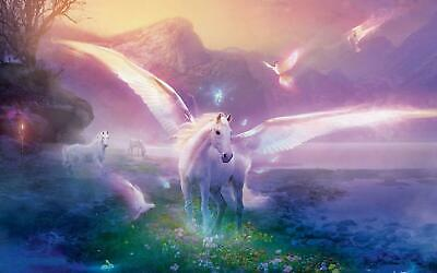 Unicorn Fantasy Fairytale Giant Poster - A5 A4 A3 A2 A1 A0 Sizes