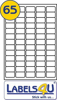 A4 White STICKY Address Labels 50 Sheets of 65 labels per sheet 38.1x21.2mm