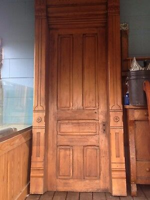 beautiful hand carved early century wooden front door