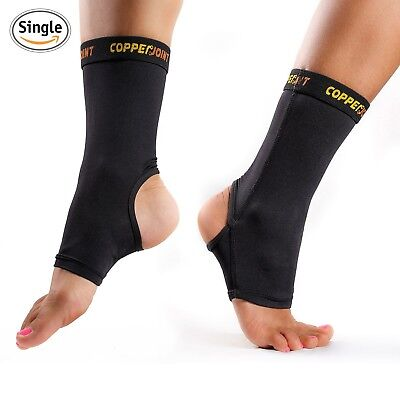 CopperJoint Compression Ankle Sleeve #1 Plantar Fasciitis Sock, Copper Infused A