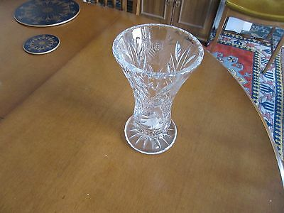 Cut Glass Vase 8 Cm A Quality Heavyweight Piece