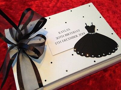 Black & White Birthday Guest Book Personalised 24 hour dispatch 18th 21st 40th