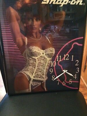 Vintage Snap-On Tools Sexy Pin-Up Girl Wall Clock  JUST REDUCED!!!!