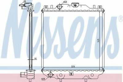 64174A Nissens Radiator engine cooling Replace 64174A17700-60D40,17700-60D41
