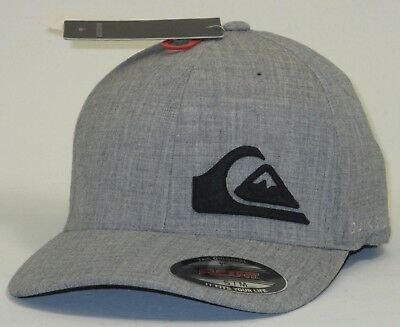 b7d3eae591224 ... good mens quiksilver final flexfit hat cap gray s m eb1a5 5aae1