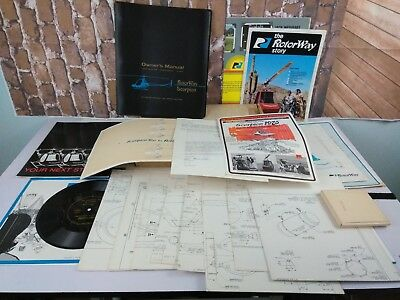 RARE Rotorway Scorpion Helicopter Owner Manual Blue Prints Plans POSTER Box SET