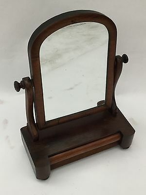 Early 20th Century Bathroom Or Vanity Mirror With Drawer