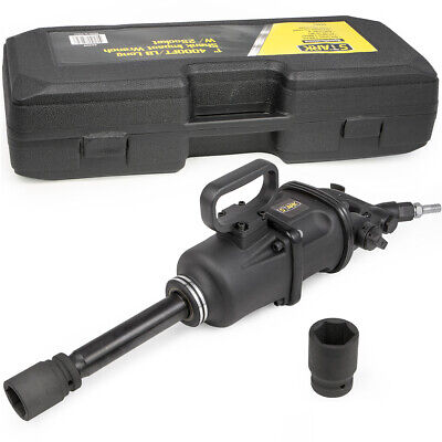 "4000 Ft lbs 1"" Air Impact Wrench Gun Long Shank Commercial Truck w /2 Sockets"