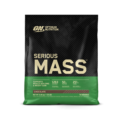 Optimum Nutrition ON Serious Mass 5.4kg Weight Gainer Gain Protein Chocolate