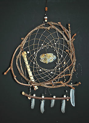 Dreamcatcher #1128 with Mangrove Snapper Skull- Native American Indian Tribal