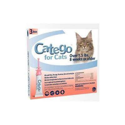 Catego for Cats Flea and Tick Topical, 3 Doses