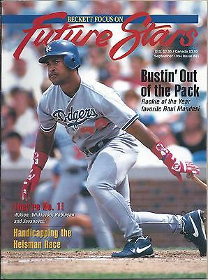 Beckett Focus On Future Stars #41 (Sept. 1994) VG Raul Mondesi cover/story