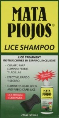 Mata Piojos Lice Shampoo Treatment Head Body Pubic Hair 2oz QTY 6