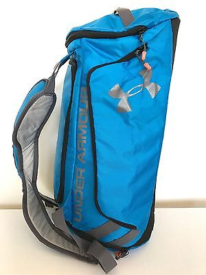 CLEARANCE: Under Armour Duffle Bag Gym Bag Backpack Blue Light Weight 35lt