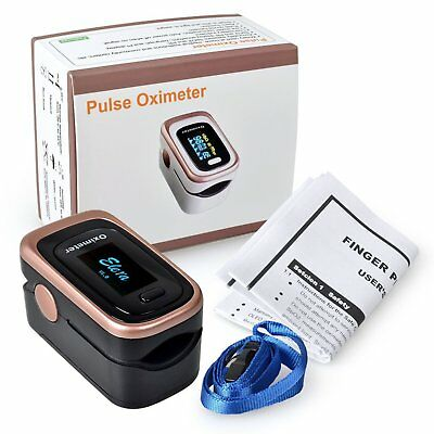 Finger Pulse Oximeter SpO2 Monitor Blood Oxygen Saturation Level Meter - Black