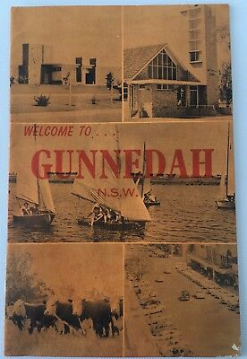 Vintage 1964 'A Welcome to Gunnedah' Map Guide Brochure 20 pages