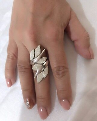 Sterling silver 950 Fashion Peruvian ring for women size 9