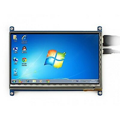 "Waveshare 7"" 800x480 Rev2.1 Capacitive Touchscreen LCD Display HDMI Interface..."