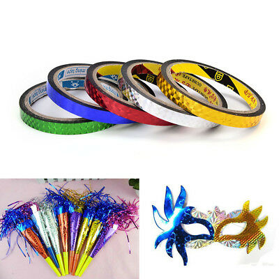 5pcs/pack Rhythmic Gymnastics Decoration Holographic Tapes Glitter Tapes、Fad