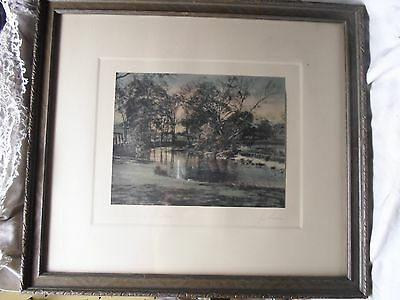 Art Deco picture frame, print- Below the Falls, by Gibson,14 X 16 inches #404