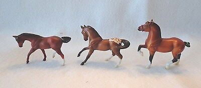 Collectible Breyer Reeves Horses - Miniature In Size - Qty 3