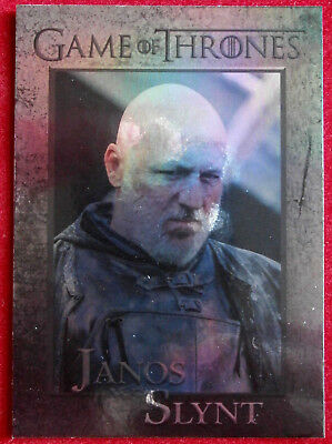 GAME OF THRONES - JANOS SLYNT - Season 4 - FOIL PARALLEL Card #84